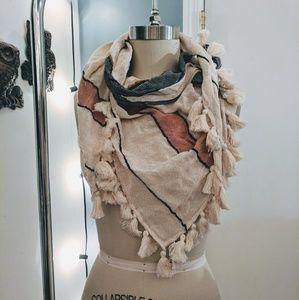 Boho scarf with tassels